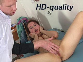 self pleasuring on gyno table